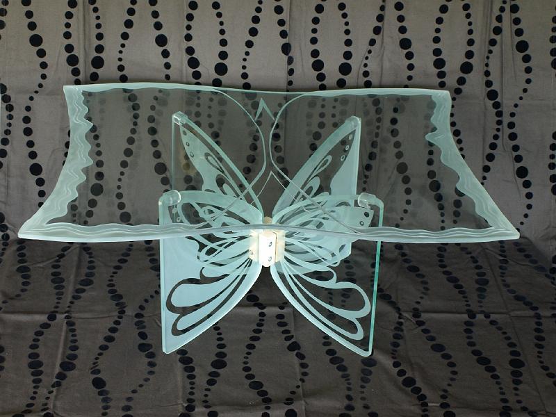Szklane Stoły Stoliki Kawowe Art Deco Unikatowe ławy Ze